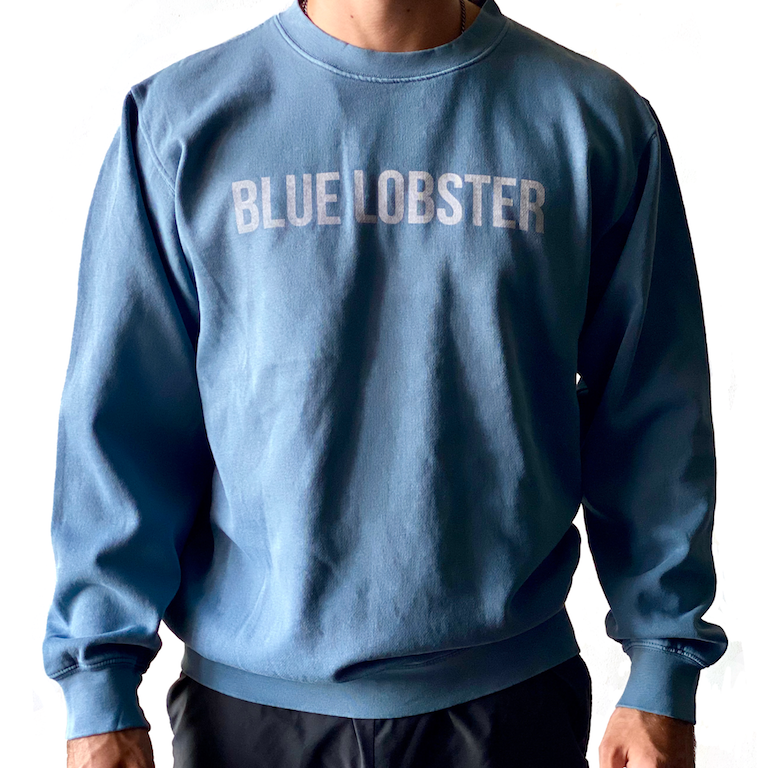 Blue Lobster Pigmented Crew Neck Long Sleeve Shirt