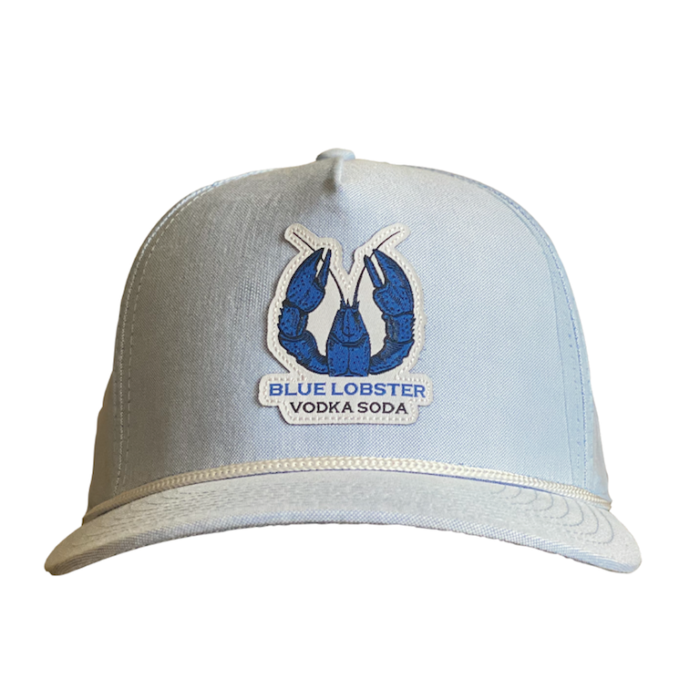 Blue Lobster Vodka Snapback Cap with Braid Detail Front View