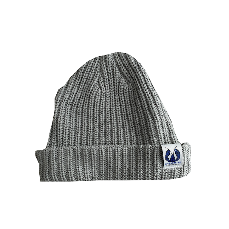 Grey Knit Toque with Blue Lobster Patch