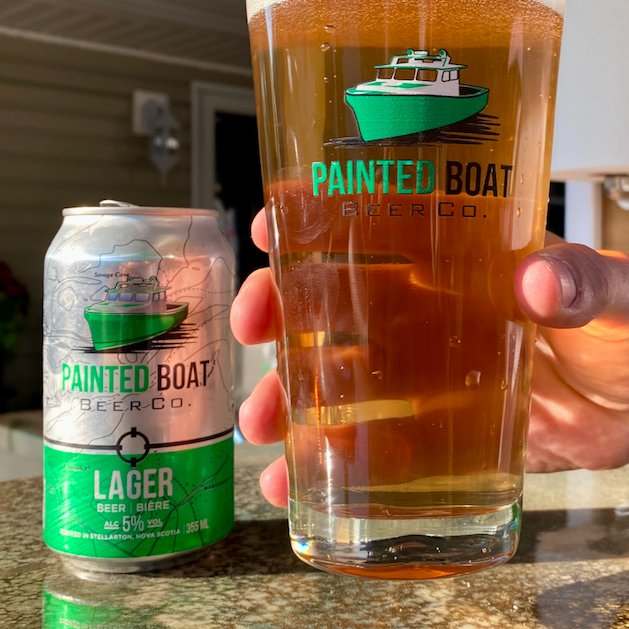 Enjoy your Painted Boat Lager in these official Painted Boat Beer Glasses