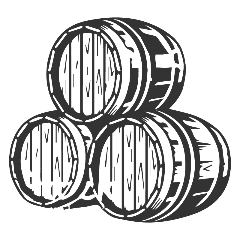 Our Products: Drawing of a Stack of Barrels