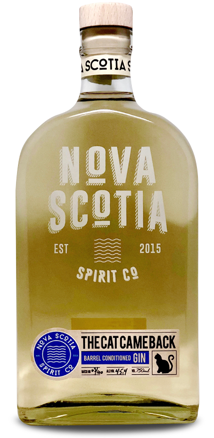 Our Products: Cat Came Back Barrel Conditioned Gin by Nova Scotia Spirit Co.