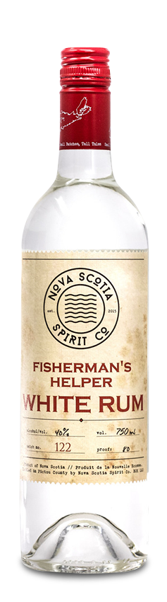 Our Products: Fishermans Helper White Rum by Nova Scotia Spirit Co