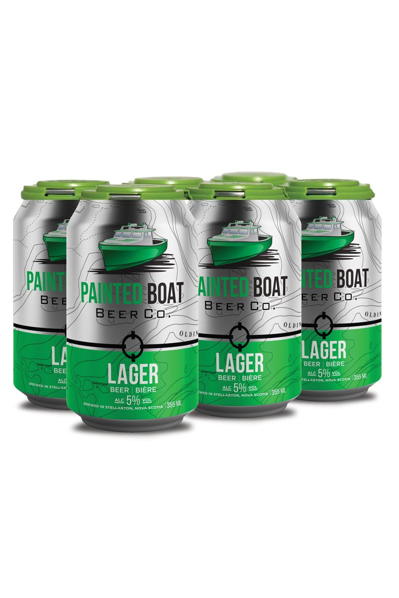 6 Pack Painted Boat Beer Co. Lager