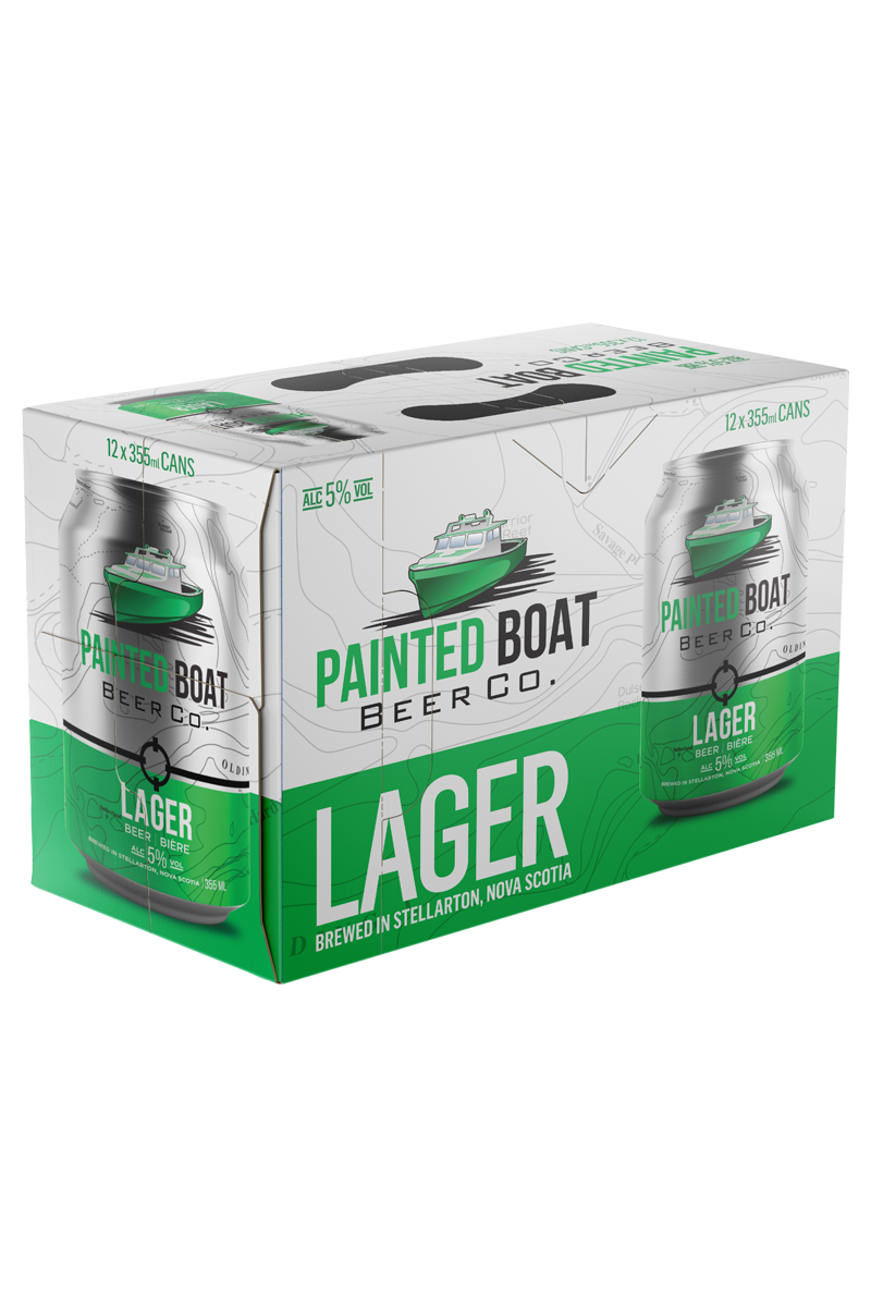 12 Pack Painted Boat Beer Co. Lager