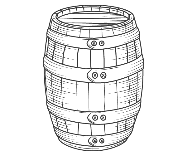 Our Products: Drawing of a Barrel